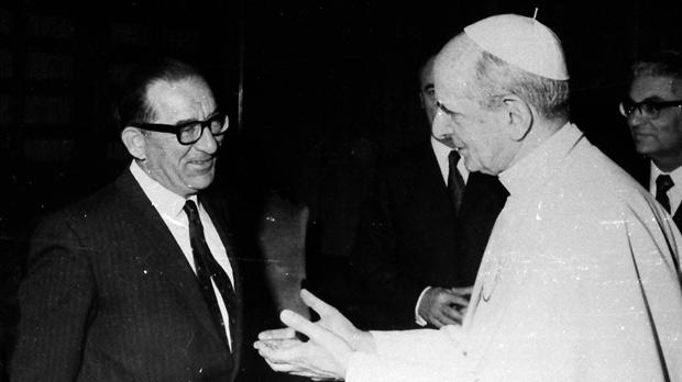 With Pope Paul VI.