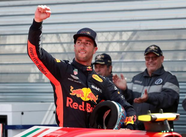 Daniel Ricciardo will start on pole at the Monaco GP on Sunday.