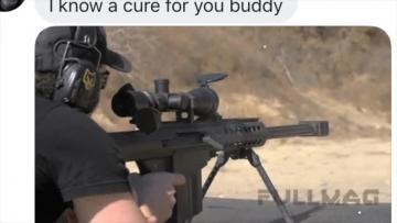 Watch: An assault rifle bullet... the cure for a gay man | Video: Matthew Mirabelli