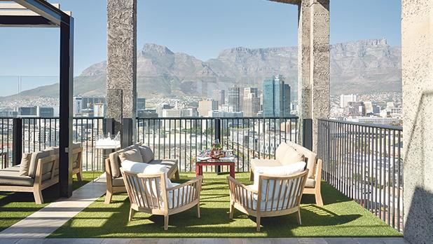 The Silo: rooftop dining with spectacular views of Table Mountain and the city centre.