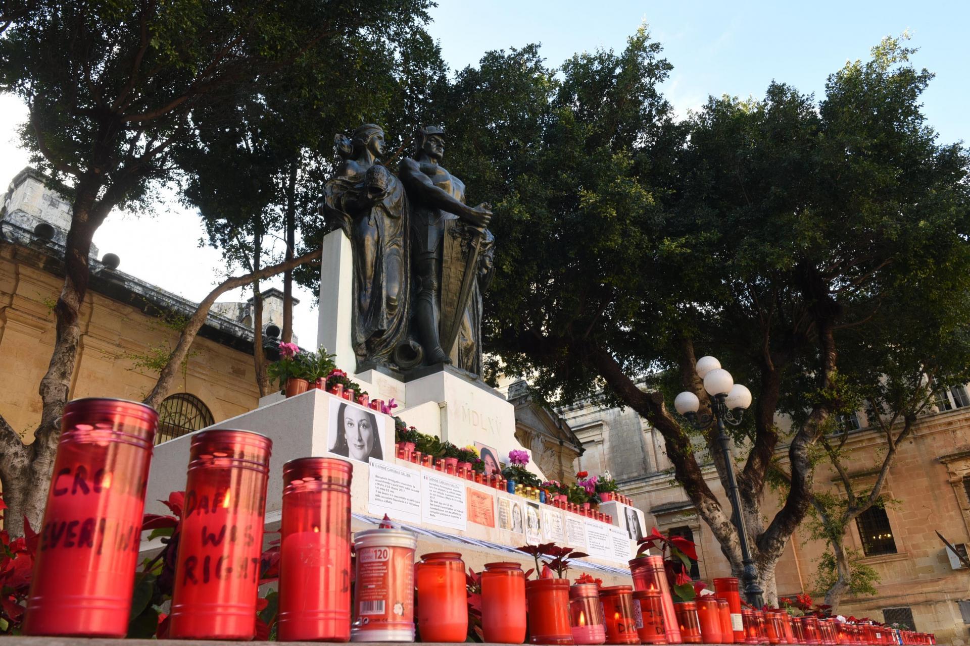 The memorial to murdered journalist Daphne Caruana Galizia. Photo: Chris Sant Fournier