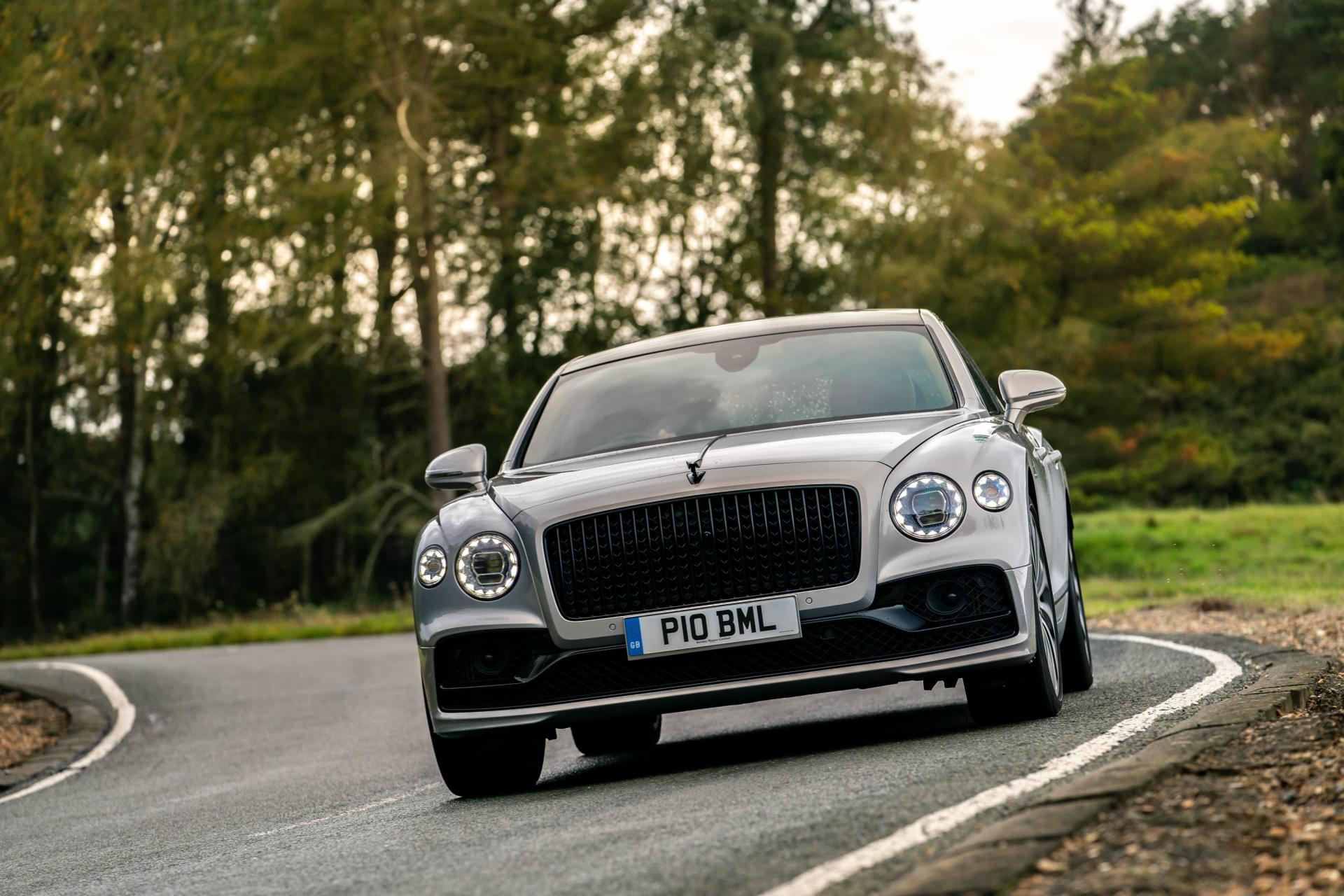 The Flying Spur remains remarkably composed in the corners.