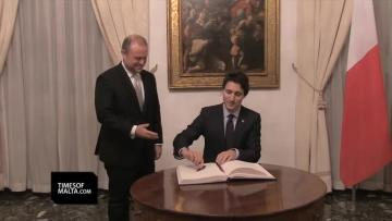 Muscat greets new Canadian PM Trudeau