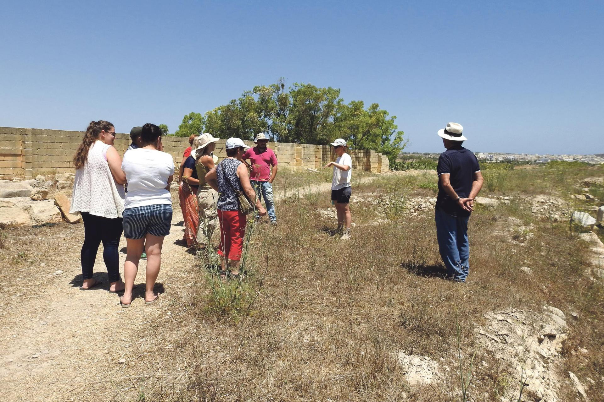 Guided tours for the public to observe the excavations and findings were held last week.