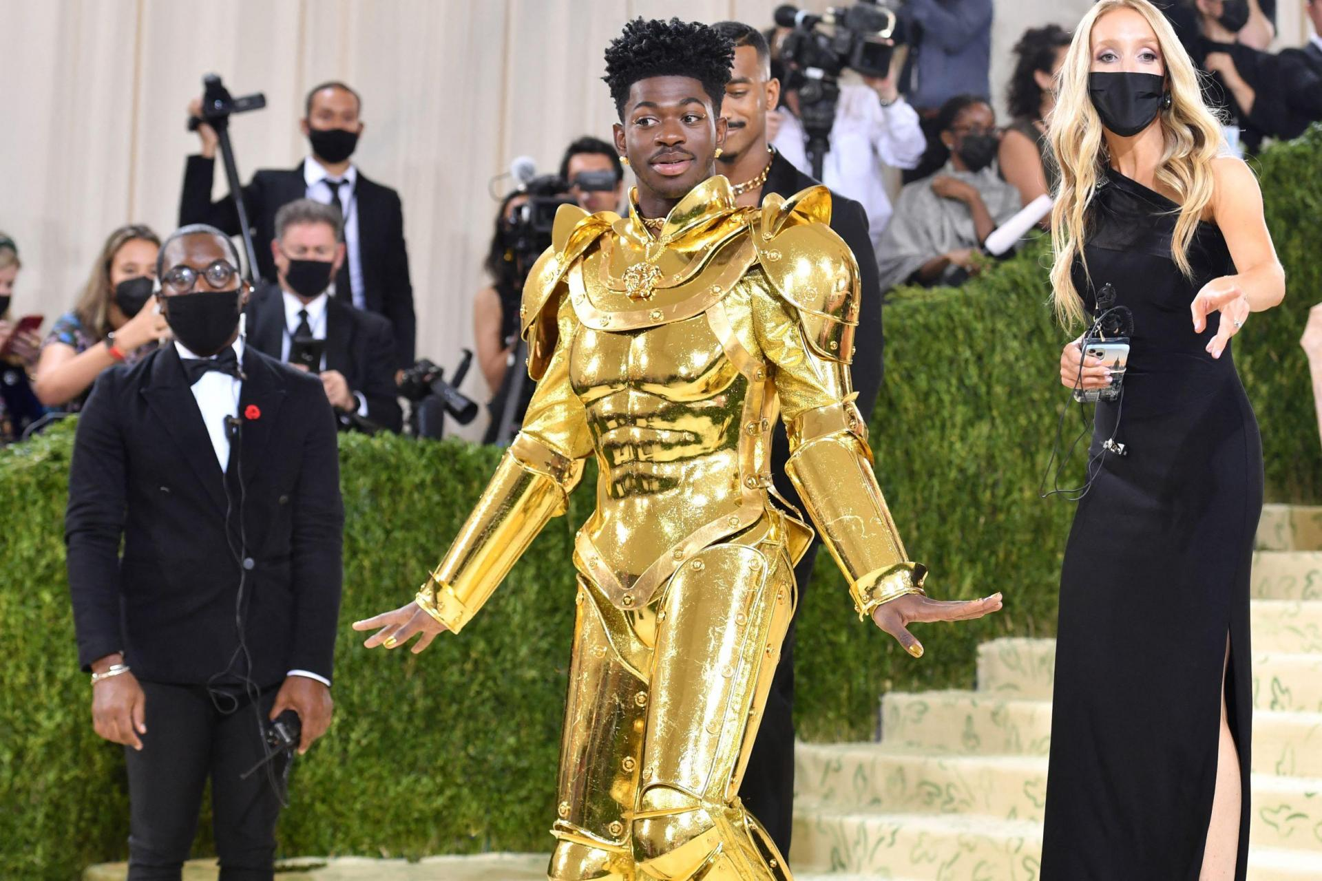 US rapper Lil Nas X arrives for the 2021 Met Gala at the Metropolitan Museum of Art on September 13, 2021, in New York. Photo: Angela Weiss/AFP