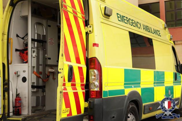 Elderly man injured in Sliema crash
