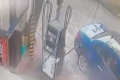 Motorist drives off with refueling hose attached