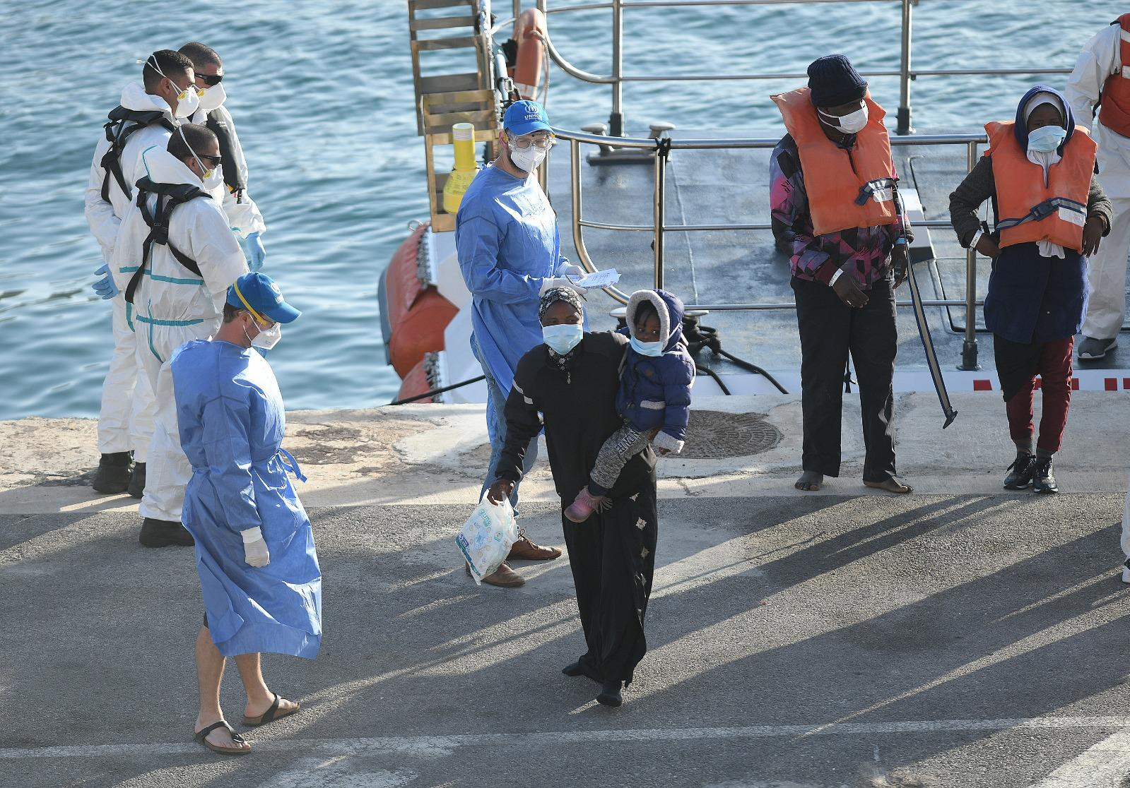 Malta has stopped disembarking migrants since it closed its ports, citing coronvirus. However, a small group were taken to the island last week. Photo: Matthew Mirabelli