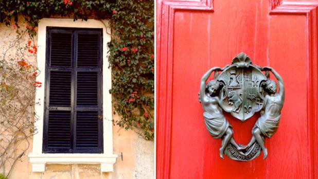 Window and a doornob in Mdina. Photos: Megan Mallia