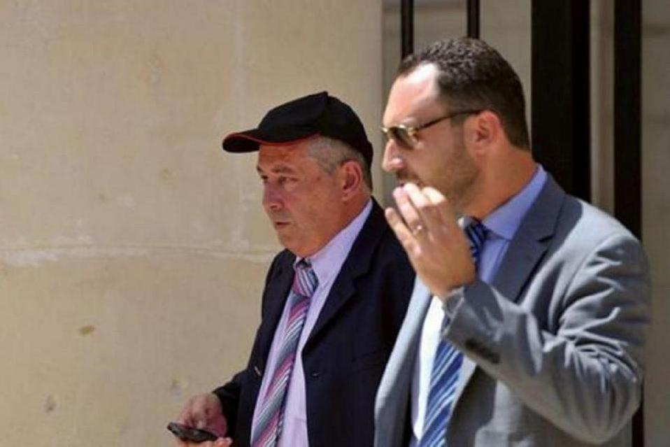 Vince Muscat (left) with his former lawyer Arthur Azzopardi. (File photo)
