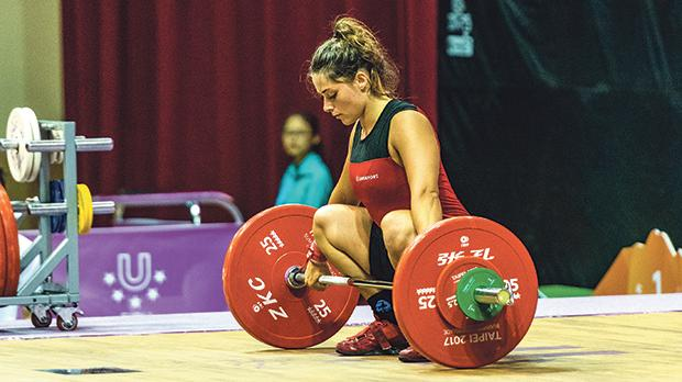 Weightlifter Yazmin Zammit Stevens spends seven to eight hours a day training.