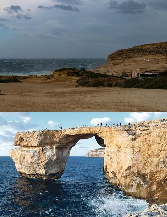 Malta's Azure Window rock formation collapses