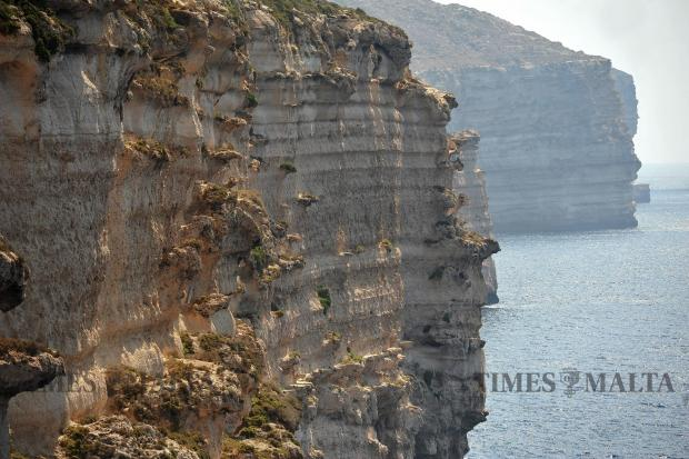 The Mtahleb cliffs on September 4. Photo: Chris Sant Fournier