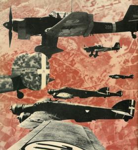 Stukas, Ju-88s, and Stavoia- Marchetti bombers of the Italia Regio Aeronautica above Malta. Photo: Inferno su Malta, Nicola Malizia