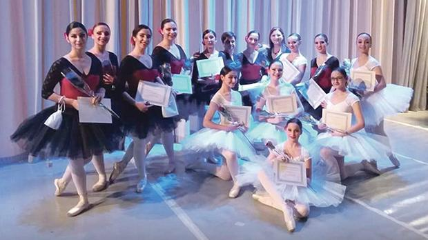 Dancers from the Mary Jane Bellia Ballet School.