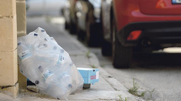 The Environment and Resources Authority has contracted a private firm to collect the waste accumulating in various Gozitan localities. Photo: Matthew Mirabelli