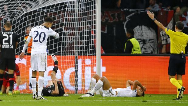 Tottenham's Erik Lamela reacts after a missed chance. Photo: Wolfgang Rattay, Reuters
