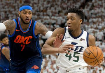 Watch: Mitchell, Jazz dump Thunder for 3-1 series lead