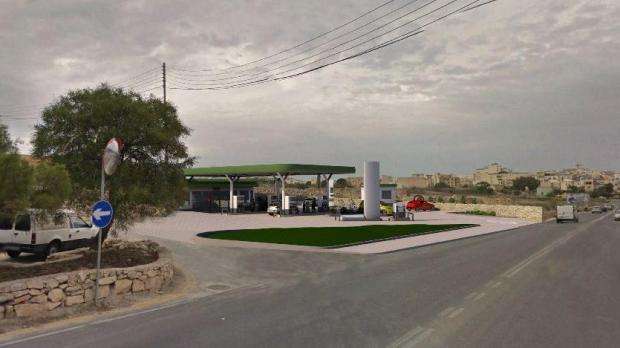 An artist's impression of the fuel station.