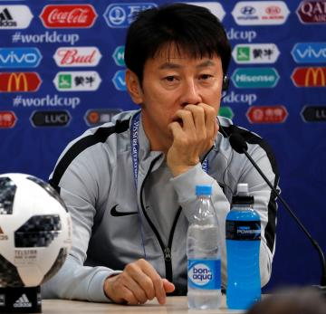 South Korean manager Shin Tae-yong. Photo: Reuters