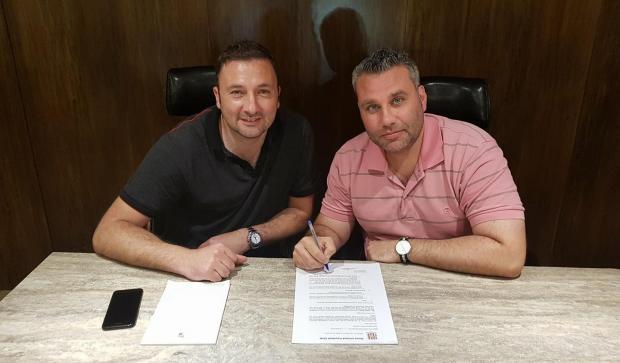 Darren Abdilla (right) will continue to manage Gżira United.