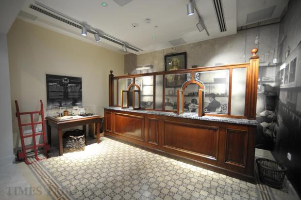 A replica of what a post office counter would have looked like in days gone by at the recently opened Postal Museum, in Valletta on June 23. The Museum allows visitors to trace the evolution of a service, which, being around for years, remains in demand. Photo: Matthew Mirabelli