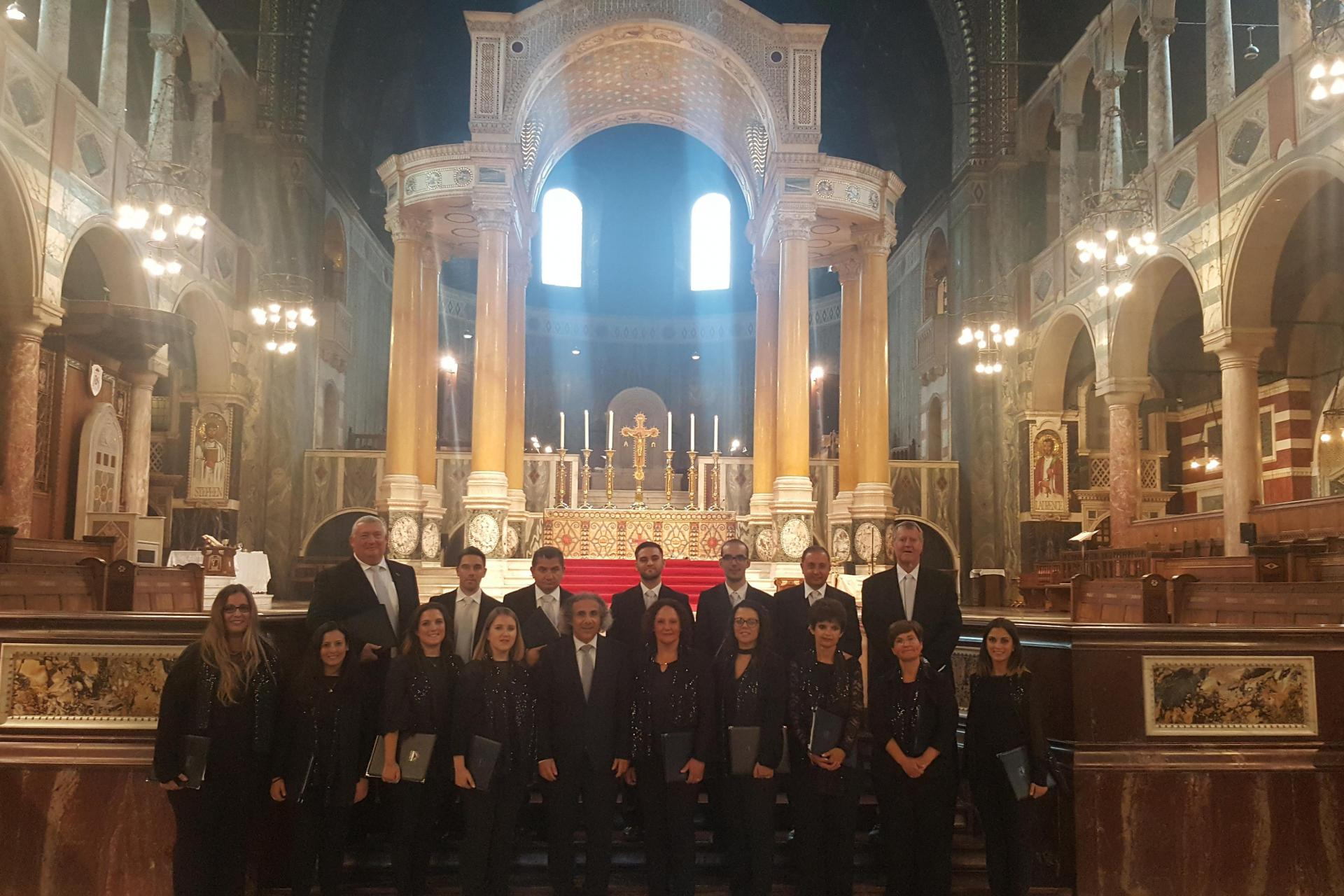 The Gaulitanus Choir played a central role in the Malta Day celebrations at Westminster Hall in September 2018.