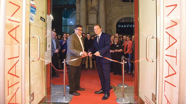 Anthony Camilleri and Damian Hopkins officially opening the Valletta outlet.