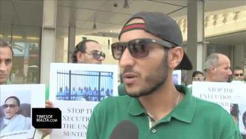 Libyans in Malta protest judgment sentencing Saif Gaddafi to death