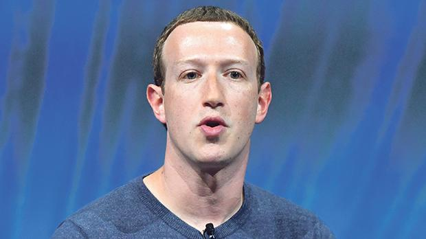 Mark Zuckerberg has shown interest in placing Facebook login details on blockchain technology. Photo: AFP