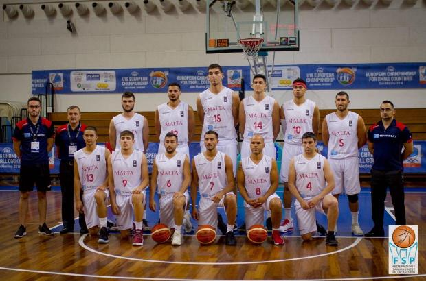 Malta men's basketball team won the gold medal in Serravalle.