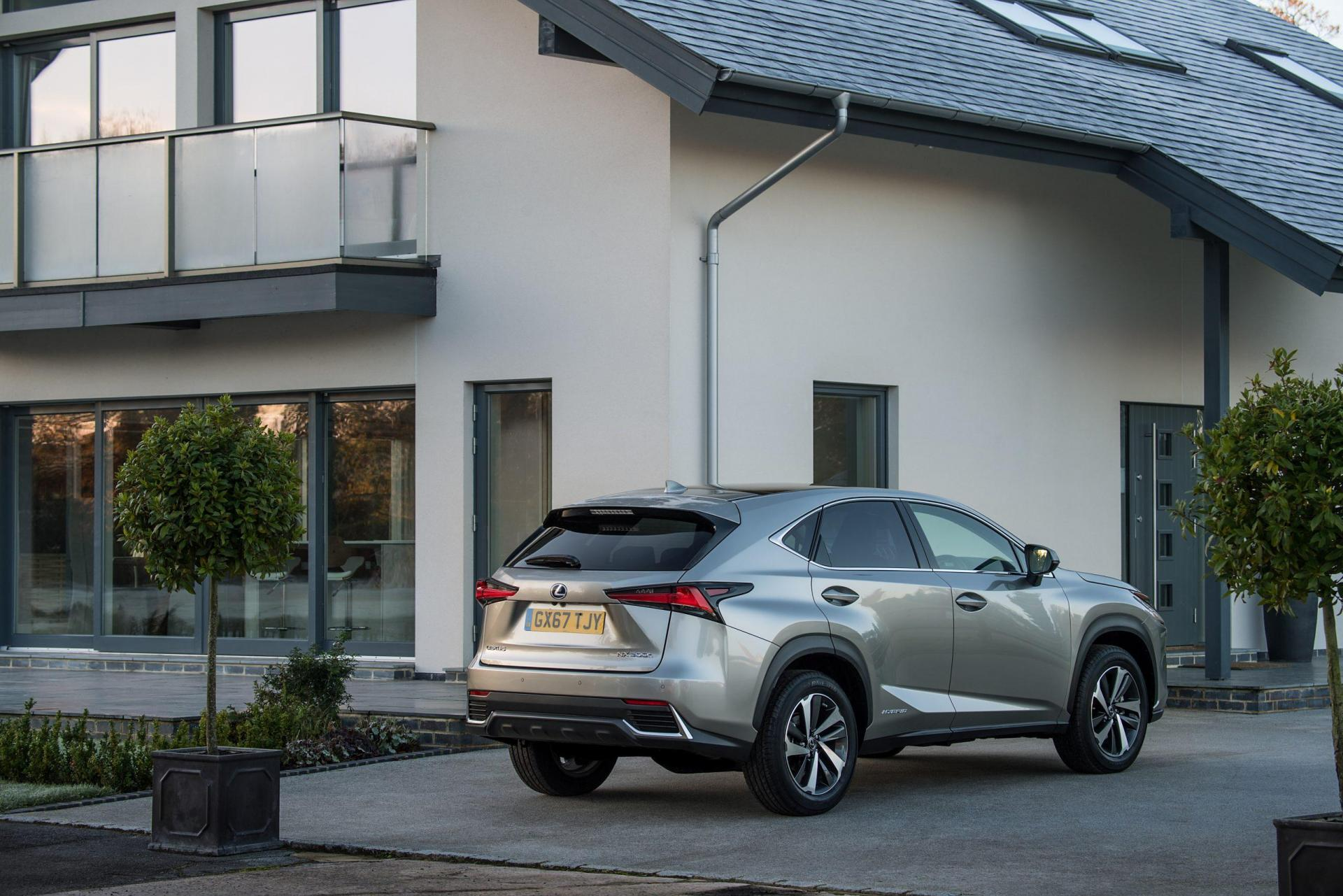 The NX's new parking system can bring the car to a stop if it notices an obstacle.