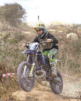 Matthew Gauci riding his Sherco bike. Photo: Mario Micallef