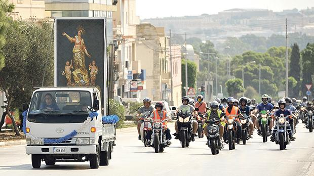 Activities on the occasion of the Feast  of the Assumption of Our Lady yesterday included a charity ride by motorcyclists. Photos: Chris Sant FouRnier
