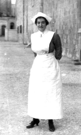 Miss Violet Briffa, a young nurse at Cottonera Hospital and later matron at St Edward's College 1930-1965.