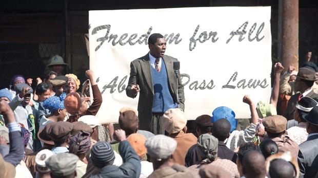 Idris Elba in Mandela: Long Walk to Freedom.