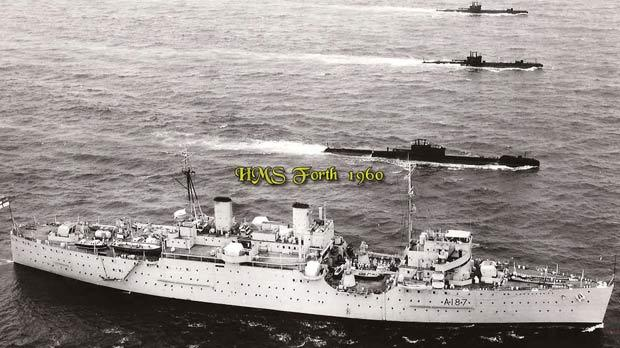 HMS Forth, which was based in Malta between 1950 and 1960.