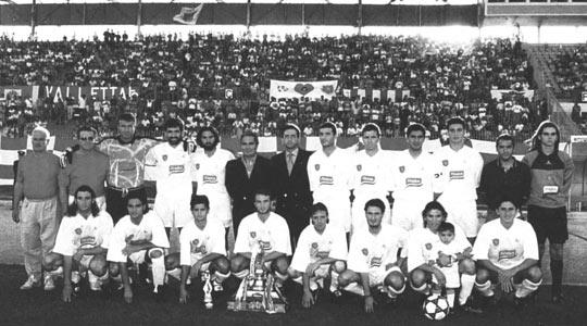 Valletta FC, winners of the FA Trophy in season 1995-96.