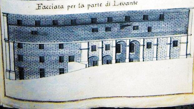 Unpublished rear view of Scappi's Hospital for Incurable Women. Courtesy of the National Library