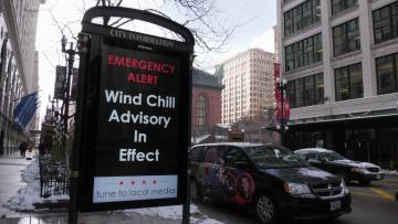 Watch: Dangerous arctic chill sweeps over US Midwest