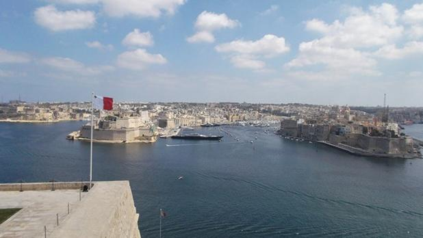 View from Upper Barrakka Gardens, Valletta. Photo: Heather Hayne