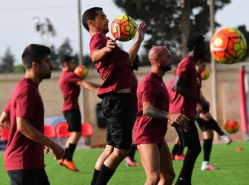 Roderick Briffa during Gżira United's training session, yesterday. Photo: Elisa Lemarchand