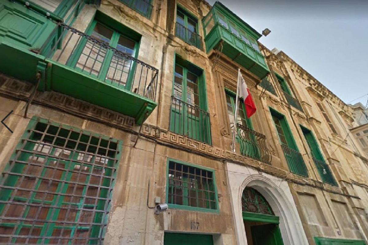 The newly-protected building in Strait Street, Valletta.