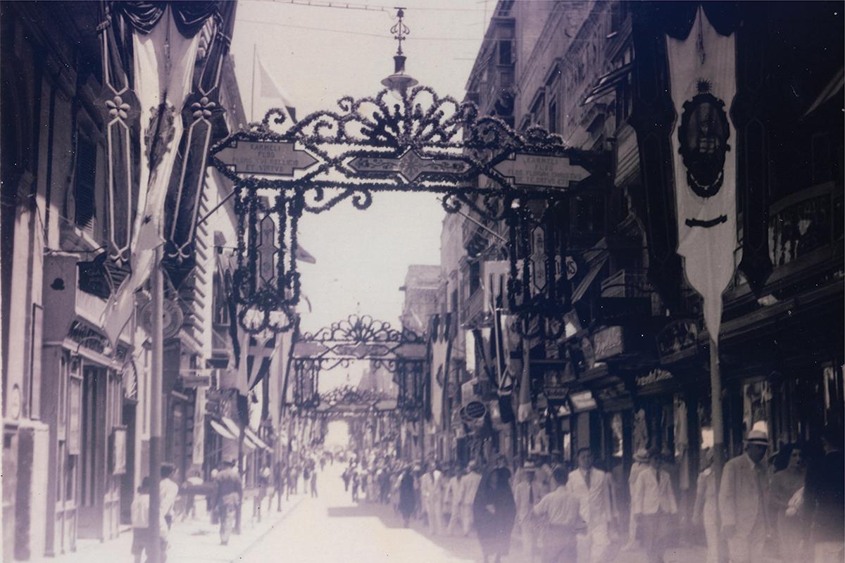 Strada Reale (Republic Street) in 1920.
