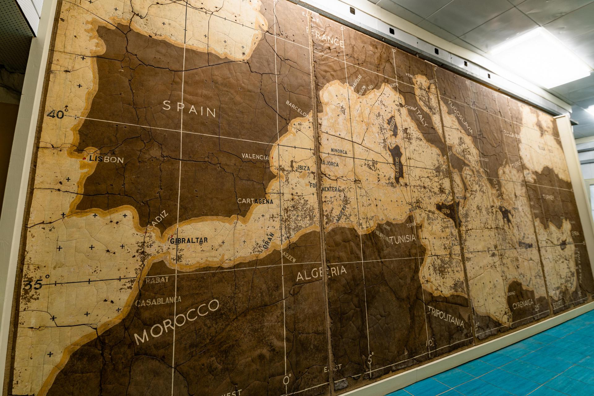 One of the maps discovered during the restoration process. Photo: Malta Airport Foundation, Fondazzjoni Wirt Artna