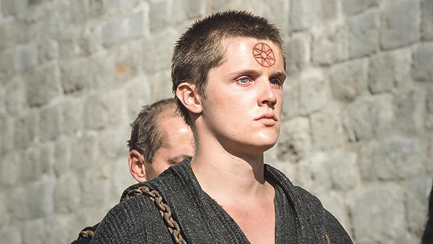 Eugene Simon as Brother Lancel in Game of Thrones.