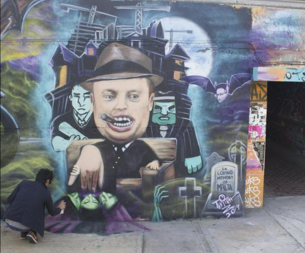 The artist was also behind the Joseph Muscat mural.