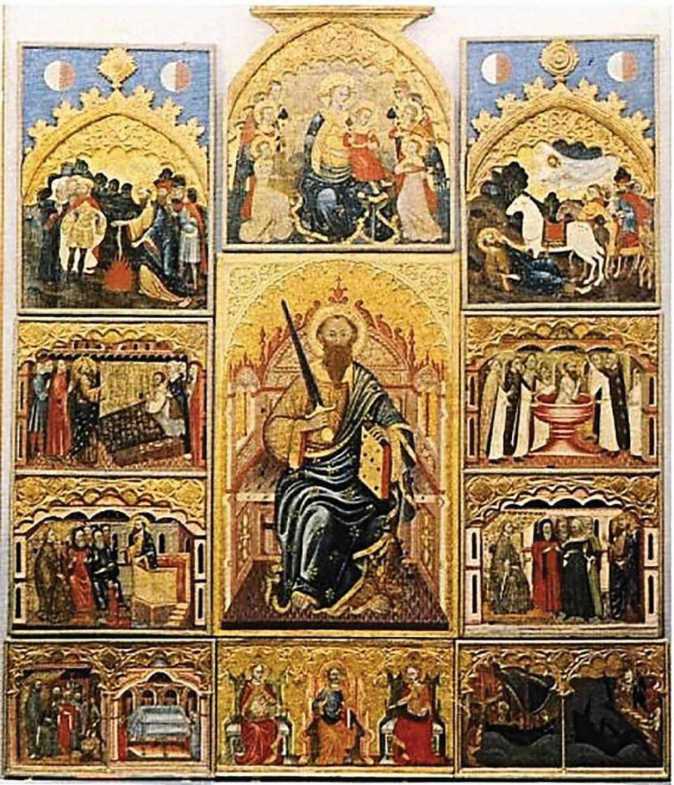 The magnificent St Paul Polyptych, rescued from the ruins of the medieval Mdina Cathedral, now housed in the Mdina Cathedral Museum.