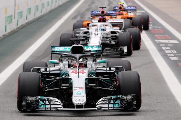 Mercedes' Lewis Hamilton during qualifying.