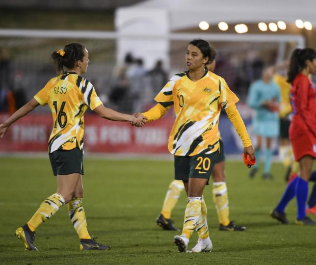 507ef83cee8 ... women s World Cup squad named. Hayley Raso (right) of Australia and Sam  Kerr.